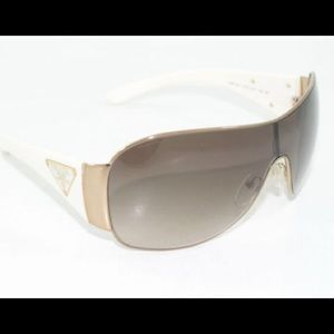 d2ee3bd2ae ... discount prada accessories prada shield sunglasses spr 57l zva 6s1 white  gold 54213 33dc9